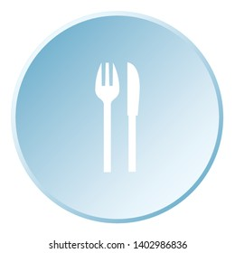 Illustrated Icon Isolated on a Background - Knife and Fork