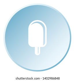 Illustrated Icon Isolated on a Background - Ice Lolly