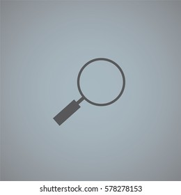 An Illustrated Icon Isolated on a Background - Magniying Glass