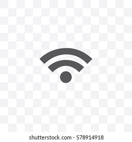 An Illustrated Icon Isolated on a Background - Wifi