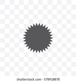 An Illustrated Icon Isolated on a Background - Spikey Circle