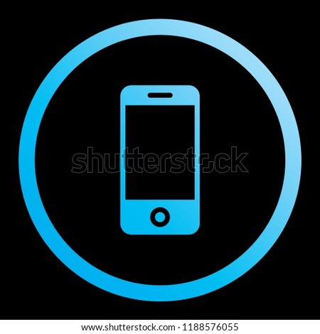 An Illustrated Icon Isolated on a Background - Mobile Phone