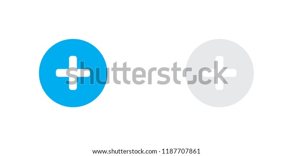 An Illustrated Icon Isolated on a Background - Round Plus Selected