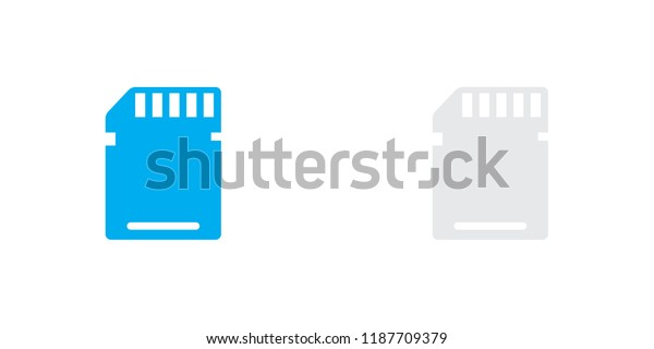 An Illustrated Icon Isolated on a Background - Memory Card