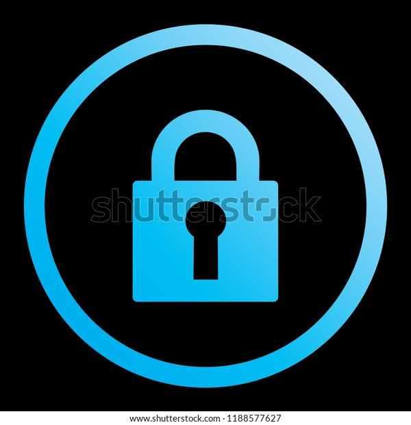 An Illustrated Icon Isolated on a Background - Lock