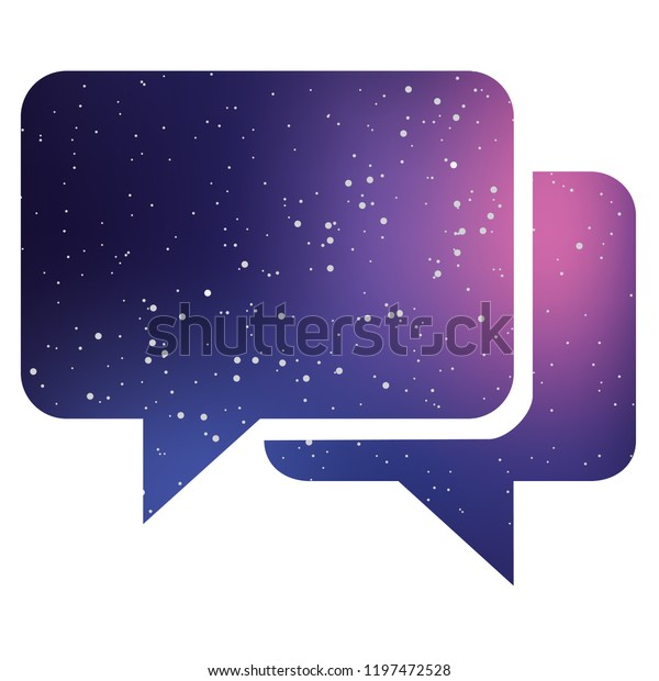 An Illustrated Icon Isolated on a Background - Square Message Bubbles