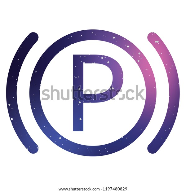 An Illustrated Icon Isolated on a Background - Parking Break Light