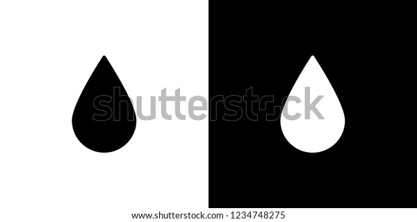 An Illustrated Icon Isolated on a Background - Water Drop