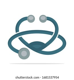 Illustrated icon for a stethoscope medical instrument
