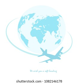illustrated logo for global air travel