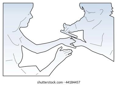 illustrated manicure process