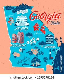 Map Of Georgia In Usa.Imagenes Fotos De Stock Y Vectores Sobre Georgia Usa Map Shutterstock