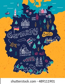 Cartoon Map Of Germany.Germany Cartoon Map Images Stock Photos Vectors Shutterstock
