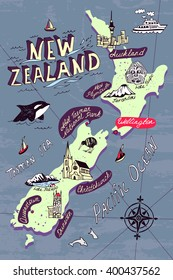 New Zealand Map Images, Stock Photos & Vectors | Shutterstock on