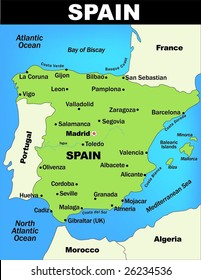 Map Of Spain Gibraltar And Morocco.Gibraltar Map Images Stock Photos Vectors Shutterstock