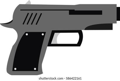 Illustrated pistol
