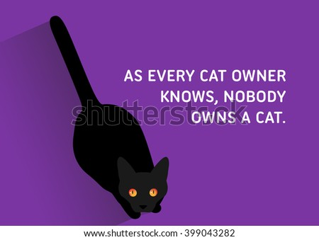 Illustrated Quote Black Cats Every Cat Stock Vector Royalty Free Amazing Cat Stock Quote