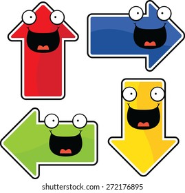 Illustrated set of cartoon arrows.
