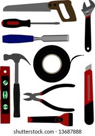 Illustrated tools.