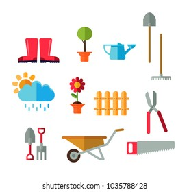 Illustrated tools vector Set