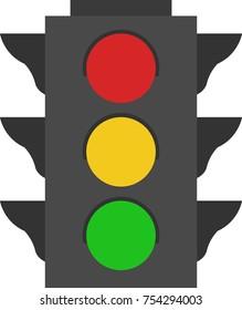 Illustrated traffic light