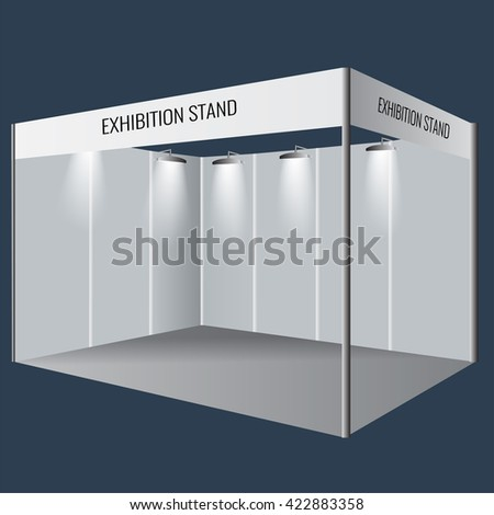 Small Exhibition Stand Vector : Illustrated unique creative exhibition stand display stock vector