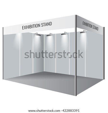 Exhibition Stand Template : Illustrated unique creative exhibition stand display stock vector
