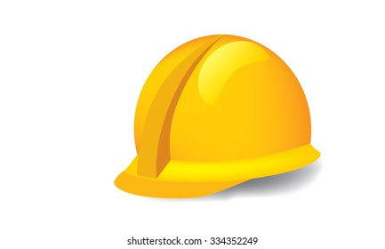 Illustrated vector of construction hardhat against white background