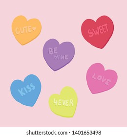 illustrated vector conversation hearts love