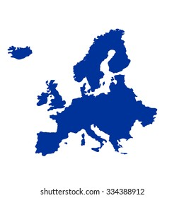 illustrated vector map of Europe