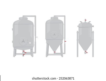 illustrated water tanks - Brewery tanks