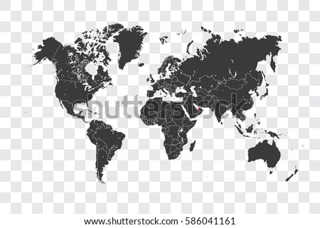 Illustrated World Map Selected Country Shape Stock Vector (Royalty ...