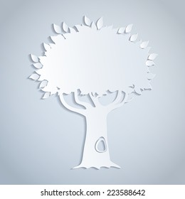 illustratiion of a white paper tree