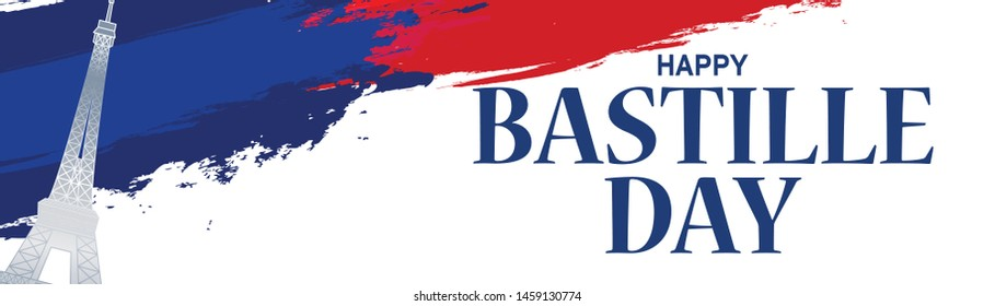 Illustration Of 14th July Background For French National Day,Happy Bastille Day.