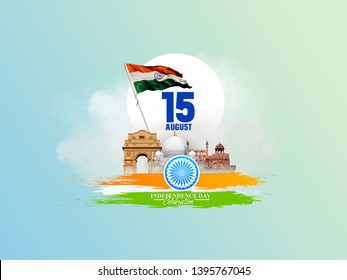 illustration of 15th August india Happy Independence Day