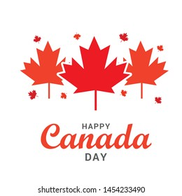 Illustration Of 1st July Happy Canada Day Background.