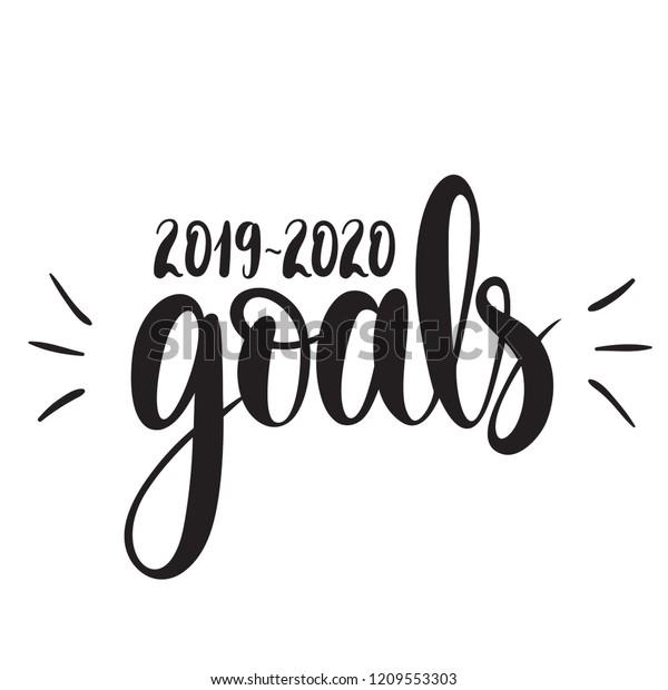 Illustration 20192020 Goals Vector Illustration Isolated