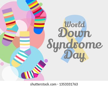 Illustration Of 21 March World Down Syndrome Day Background.
