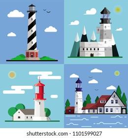 Illustration of ligh?houses