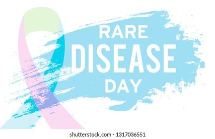 Illustration Of 28 February Rare Disease Day Background.