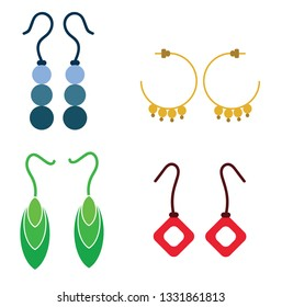 Illustration of 4 different earrings