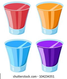 Illustration of 4 shot glasses