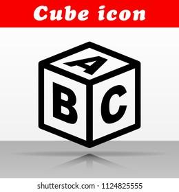 Illustration of abc cube vector icon design