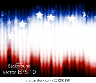 Illustration of abstract American background