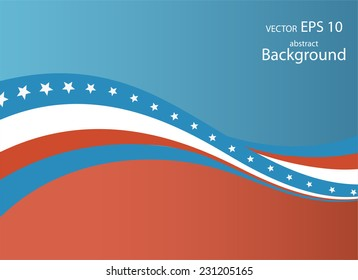 Illustration of abstract American Flag