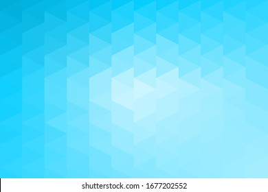 Illustration of abstract background in blue color tone with triangle polygon design