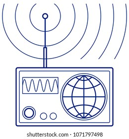 Illustration of the abstract broadcasting radio set
