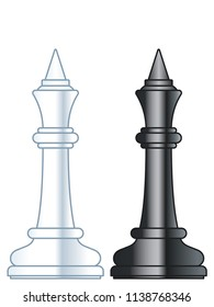 Illustration of the abstract chess king pieces