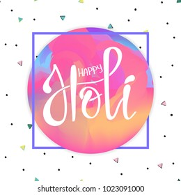 illustration of abstract colorful Happy Holi lettering background