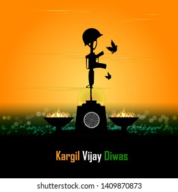 illustration of abstract concept for Kargil Vijay Diwas, banner or poster.Vector illustration-vector